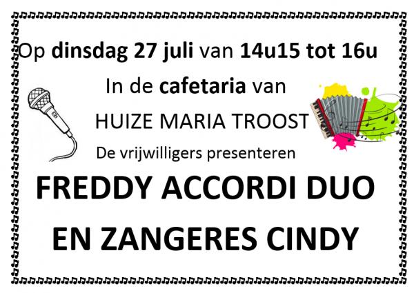 Optreden 27 juli 2021